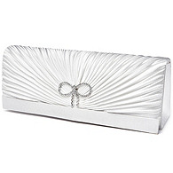 Classic Ruching & Crystal Bow Evening Bag
