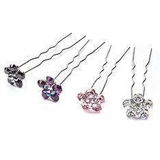crystal daisy hairpin