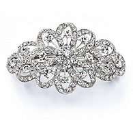 Bridal Crystal Floral Barrette