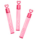 Heart Wedding Bubble Tubes - Berry Pink