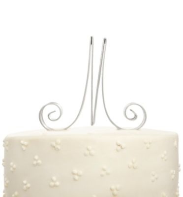 Script Initial Cake Topper