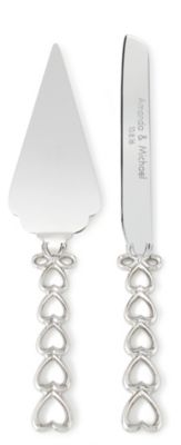 Open Heart Cake Knife & Server Set