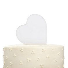Heart Photo Cake Top