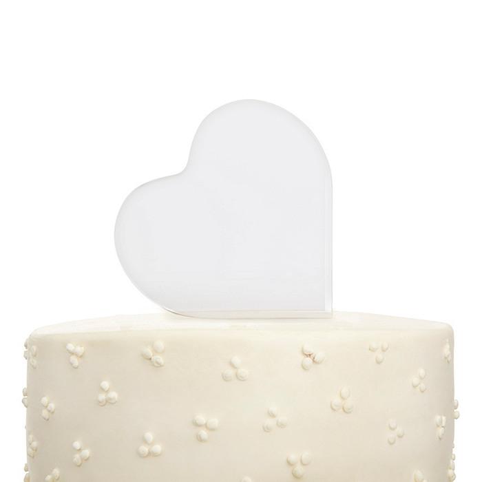Heart Photo Cake Top
