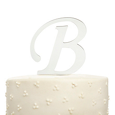 Mirrored Initial Cake Topper