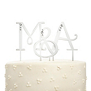Lettered Swarovski Crystal Cake Topper