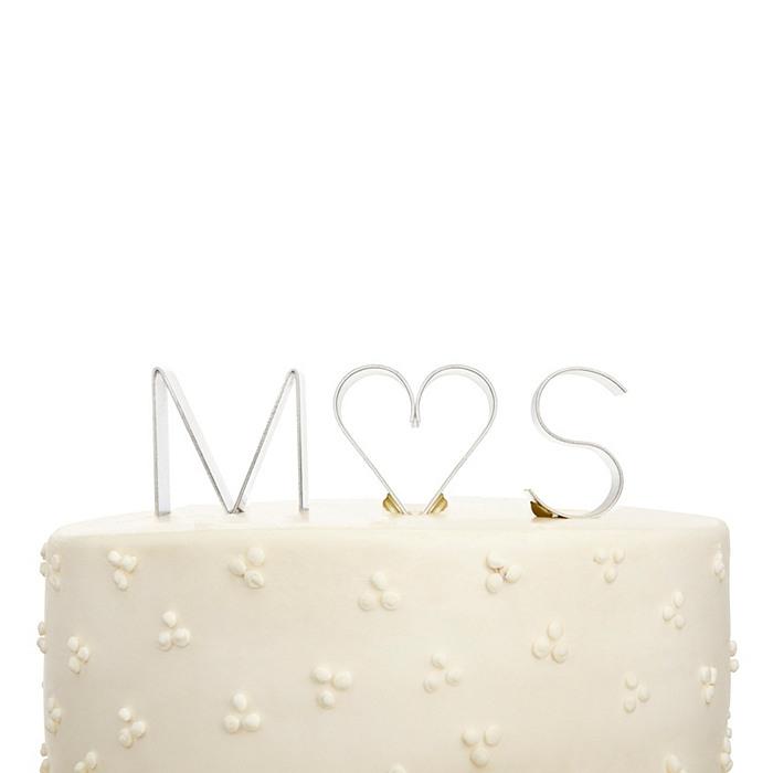 Modern Initial Cake Topper