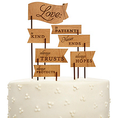 Love is Patient Cake Topper
