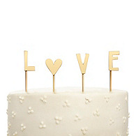 Love Cake Topper - Gold