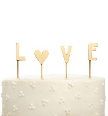 Love Cake Topper - Gold