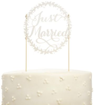 Just Married Paper Cake Topper