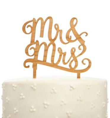 Mr. & Mrs. Signature Cake Topper