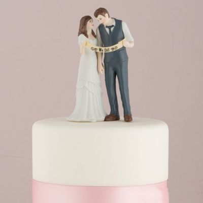 Indie Style Wedding Couple Cake Topper