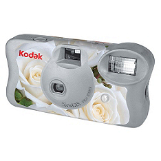 kodak floral wedding camera - ivory - special value price