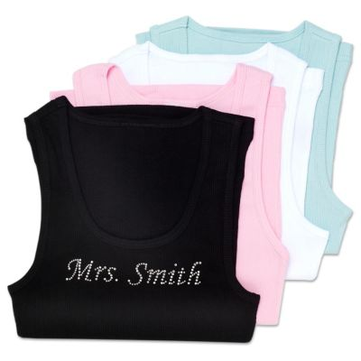 Personalized Rhinestone Mrs. Tank
