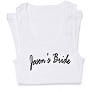 Personalized Bride Ribbed Tank
