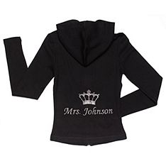 Personalized Mrs. Rhinestone Hoodie With Crown