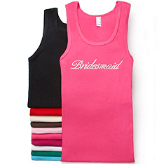 Crystal Bridesmaid Tank
