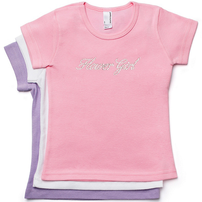 Crystal Flower Girl Tee