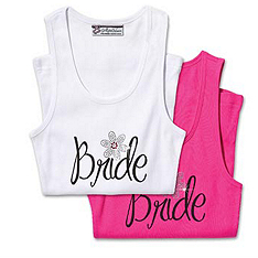 Bling in Bloom Bride Tank