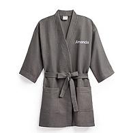 Personalized Waffle Weave Kimono Robe