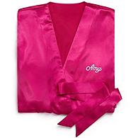 Silky Kimono Robe - Bright Pink