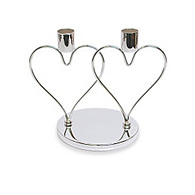 Interlocking Heart Candle Holder