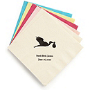 Personalized Beverage Napkins - Baby