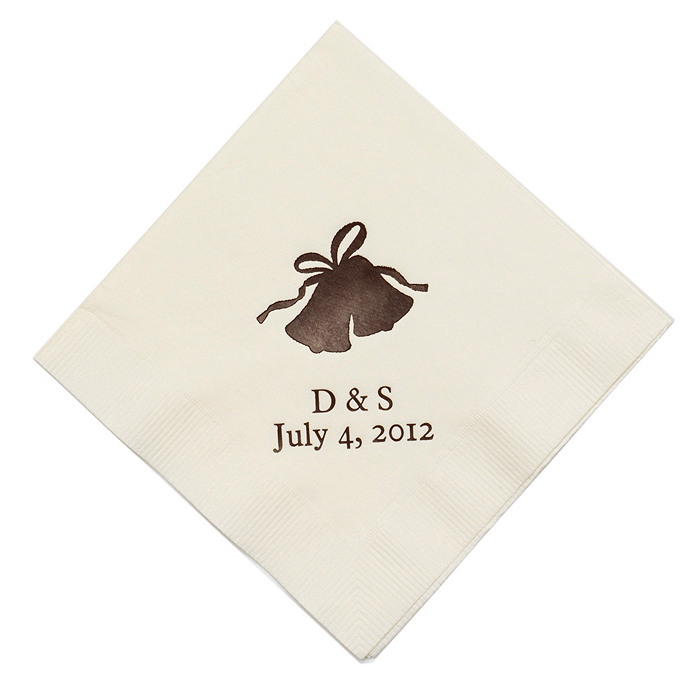 Personalized Napkins - BEVERAGE (Bells)
