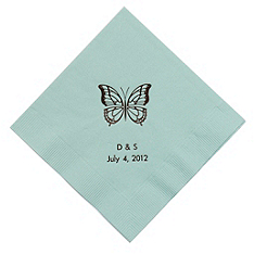 Personalized Napkins - BEVERAGE (Butterfly)