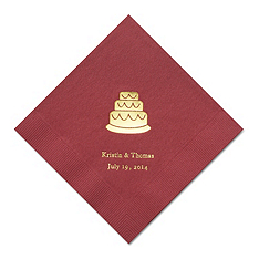 Personalized Napkins - LUNCHEON (Cake)