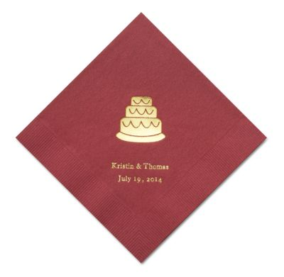 Personalized Napkins - BEVERAGE (Cake)