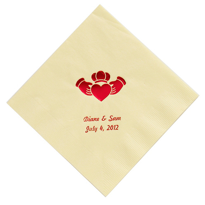 Personalized Napkins - BEVERAGE (Claddagh)