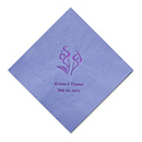 Personalized Napkins - DINNER (Calla Lily)