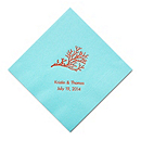 Personalized Napkins - LUNCHEON (Coral)