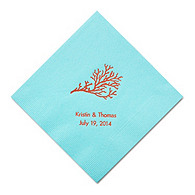 Personalized Napkins - DINNER (Coral)