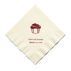 Personalized Napkins - BEVERAGE (Cupcake)