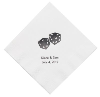 Personalized Napkins - BEVERAGE (Dice)