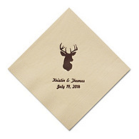 Personalized Napkins - DINNER (Deer Head)