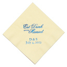 Personalized Napkins - BEVERAGE (Eat, Drink... Script)