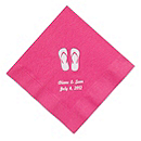 Personalized Napkins - BEVERAGE (Flip-Flops)