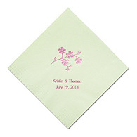 Personalized Napkins - BEVERAGE (Forget Me Not)