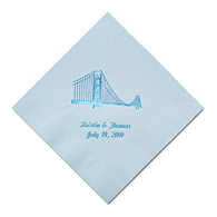 Personalized Napkins - DINNER (Golden Gate)