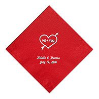Personalized Napkins - LUNCHEON (Heart and Arrow)