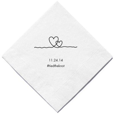 Personalized Napkins - BEVERAGE (Heart Strings)