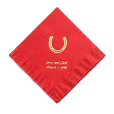 Personalized Napkins - BEVERAGE (Horseshoe)