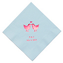 Personalized Napkins - BEVERAGE (Lovebirds)