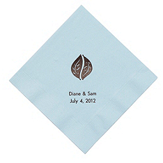 Personalized Napkins - BEVERAGE (Leaves)