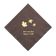 Personalized Napkins - BEVERAGE (Maple Leaves)