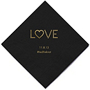 Personalized Napkins - BEVERAGE (Love)